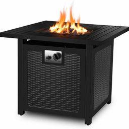 CINAK 30 Inch Propane Gas Fire Pit, 50,000 BTU Auto-Ignition Fire Bowl with Waterproof Firepit Ta... | Walmart (US)