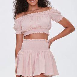 Smocked Mini Skirt | Forever 21 (US)