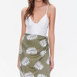 Tropical Leaf Print Skirt | Forever 21 (US)