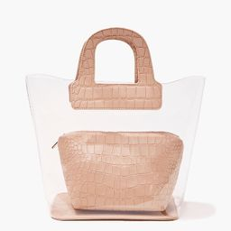 Transparent & Faux Croc Leather Tote Bag | Forever 21 (US)