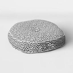 Woven Rounded Outdoor Floor Cushion DuraSeason Fabric™ Black - Opalhouse™ | Target