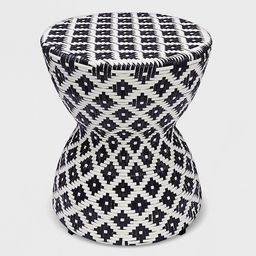 Wicker Hourglass End Table White/Black - Opalhouse™ | Target