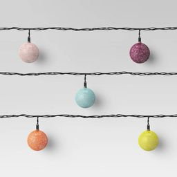 10ct Incandescent Mini Outdoor Colored String Orb String Lights - Opalhouse™ | Target