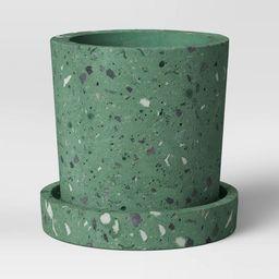 "4"" Concrete Terrazzo Planter Green - Project 62™ | Target"