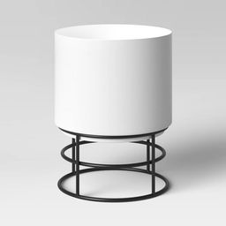White Metal Planter with Black Stand - Project 62™ | Target