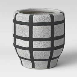 """6"""" Earthenware Ceramic Planter Striped Gray - Project 62™ 