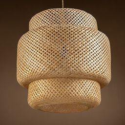 "Drusilla Single Light Rattan Pendant Light - 20.9"" x 19.7""   Overstock"