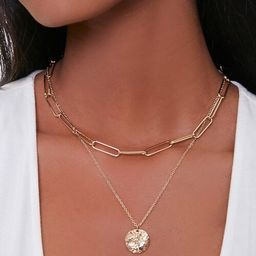 Disc Pendant Layered Necklace | Forever 21 (US)