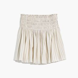 Smocked Pull-On Mini Skirt in Stripe | Madewell