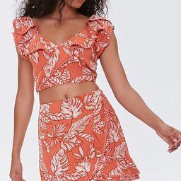Tropical Leaf Mini Skirt | Forever 21 (US)