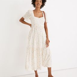 Flutter-Sleeve Tiered Maxi Dress in Folkmagic Floral | Madewell