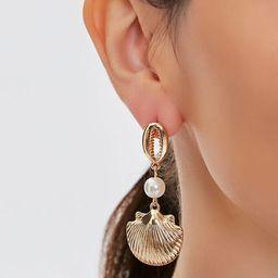 Seashell Pendant Drop Earrings | Forever 21 (US)