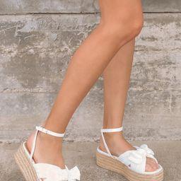 Rayanna White Espadrille Platform Sandals | Lulus (US)