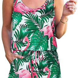 Lindanina Women Romper Baggy Casual Sleeveless Jumpsuit Summer Cute Short Romper with Pockets   Amazon (US)
