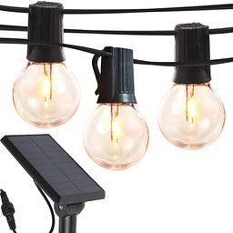Brightech Ambience Pro - Globe Solar LED Outdoor String Lights – Waterproof, 1W Retro Edison Fi...   Amazon (US)