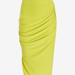 Silky Sueded Jersey High Waisted Ruched Pencil Skirt   Express