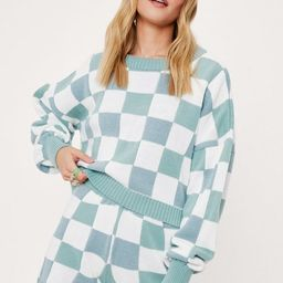 Check Knitted Sweater and Shorts Lounge Set | NastyGal