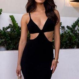 Talia Black Mini Dress | Shop Priceless