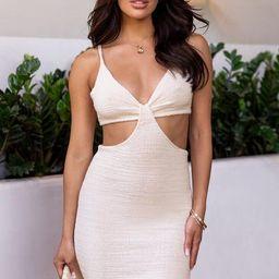 Talia Cream Mini Dress | Shop Priceless