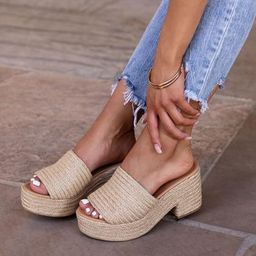 Balanced Chunky Raffia Heels | Shop Priceless