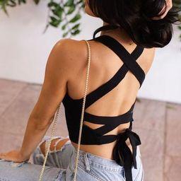 Lilo Black Tie-Back Crop Top   Shop Priceless
