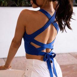 Lilo Blue Tie-Back Crop Top   Shop Priceless