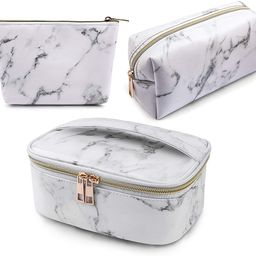 MAGEFY 3Pcs Makeup Bags Portable Travel Cosmetic Bag Waterproof Organizer Multifunction Case with... | Amazon (US)