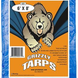B-Air Grizzly Tarps - Large Multi-Purpose, Waterproof, Tarp Poly Cover - 5 Mil Thick (Blue - 6 x ...   Amazon (US)