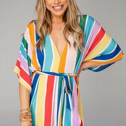 Rivers Kimono Sleeve Romper - Fiesta   BuddyLove