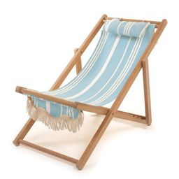sling chair, vintage blue stripe | minnow