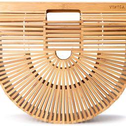 Vintga Bamboo Bags for Women Summer Straw Bags Wooden Beach Purses Basket Handle Handbags   Amazon (US)