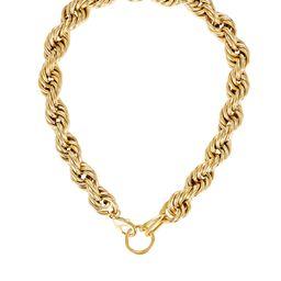 Brinker & Eliza Mini Showstopper Chain-Link Necklace, Gold 1SIZE | INTERMIX