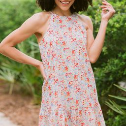 Worth It Ivory White Ditsy Floral Dress | The Mint Julep Boutique
