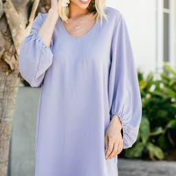 Loud And Clear Lavender Purple Bubble Sleeve Dress   The Mint Julep Boutique