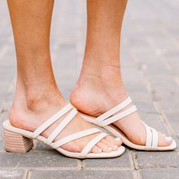 Keep Shining Nude Strappy Heels | The Mint Julep Boutique