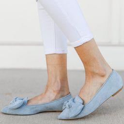 Just Too Sweet Light Blue Flats | The Mint Julep Boutique