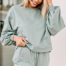 Doing Your Best Light Green Lounge Set | The Mint Julep Boutique