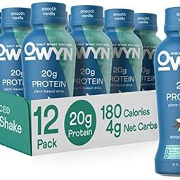 OWYN - 100% Vegan Protein Shakes | Vanilla, 12 Fl Oz (Pack of 12) | Dairy-Free, Gluten-Free, Soy-... | Amazon (US)