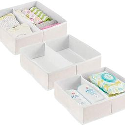 mDesign Soft Fabric Dresser Drawer and Closet Storage Organizer Bin for Child/Kids Room, Nursery,... | Amazon (US)