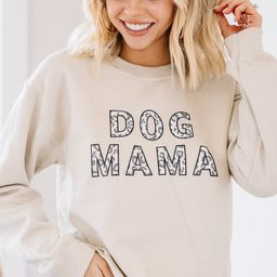 Dog Mama Sand Brown Graphic Sweatshirt | The Mint Julep Boutique