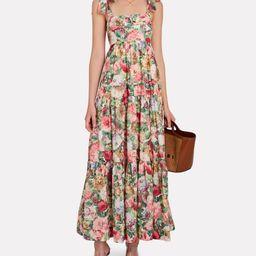 Mae Floral Tie-Shoulder Midi Dress   INTERMIX