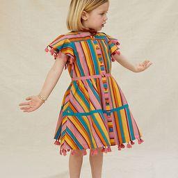 Farm Rio Rainbow Stripe Kids Dress   Anthropologie (US)