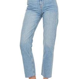 Raw Hem Crop Straight Leg Jeans   Nordstrom