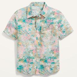 Built-In Flex Short-Sleeve Pocket Shirt for Boys | Old Navy (US)