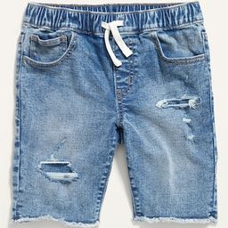 Karate Built-In Flex Max Ripped Jean Jogger Shorts for Boys | Old Navy (US)