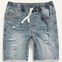 Karate Built-In Flex Max Pull-On Ripped Jean Jogger Shorts for Boys | Old Navy (US)