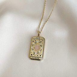 Le Soleil Gold Tarot Necklace | Wanderlust + Co