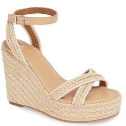 BP. Wedge Raffia Woven Neutral Sandal Gabby | Etsy (US)