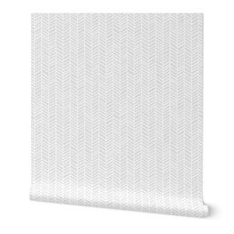 Herringbone Light Grey Macro by Friztin   Spoonflower