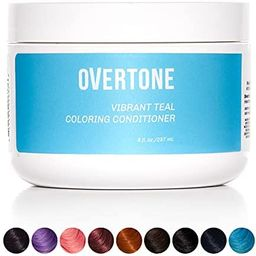 oVertone Haircare Vibrant Teal Coloring Conditioner | Gentle Semi-Permanent Hair Color with Shea ... | Amazon (US)